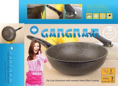 panci korea gangnam wokpan 30 cm sajian kue masakan