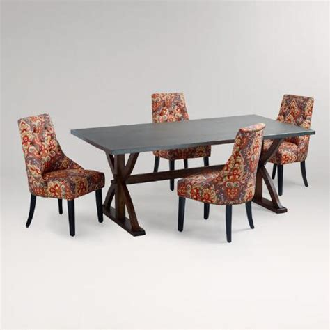 Metal Wrapped Dining Table Metal Wrapped Braxton Dining Table World Market