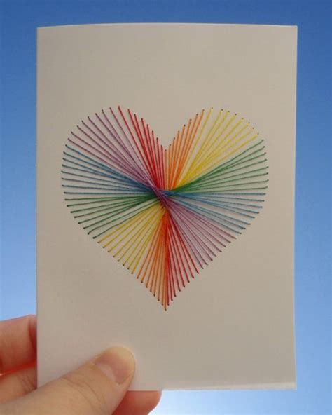 String Cards - handmade card string in the shape of a