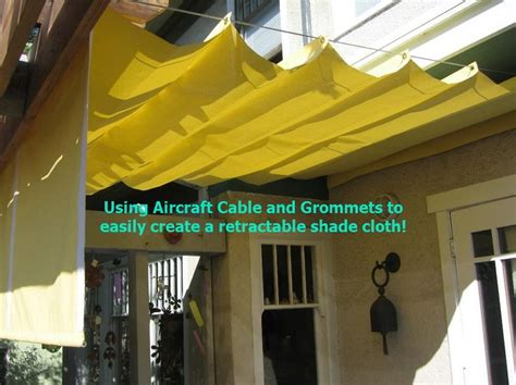 how to clean cloth awnings diy simple retractable shade cloth use a wire cable set