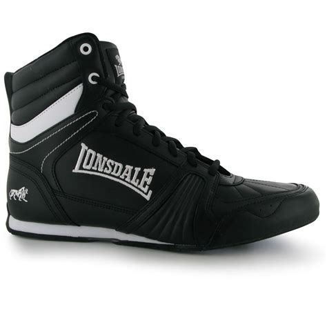lonsdale tornado mens boxing boots black trainers sneakers
