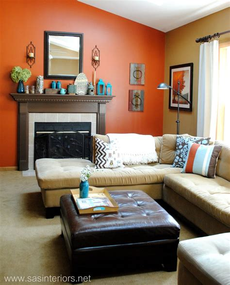 Burnt Orange Living Room Walls by Burnt Orange Focal Wall Home Sweet Home