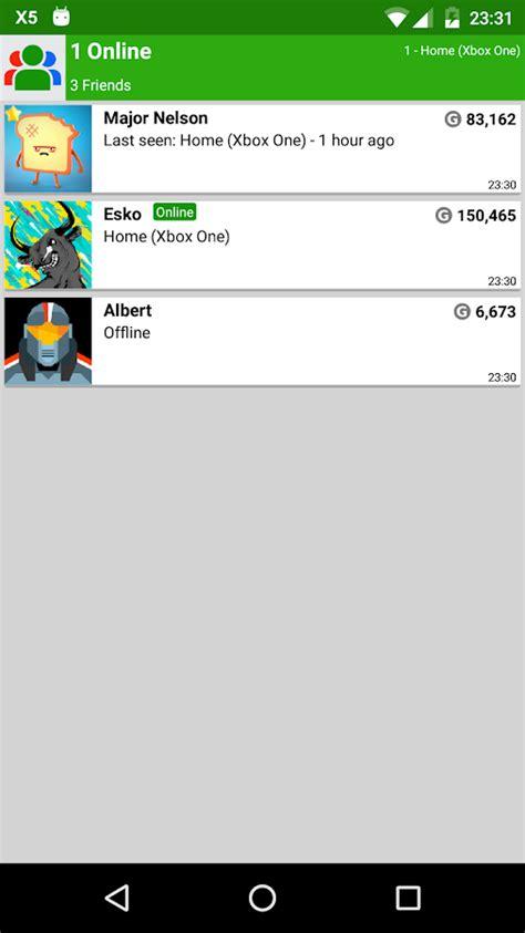 xbox live apk my xbox live friends lite 2 45 apk android social apps