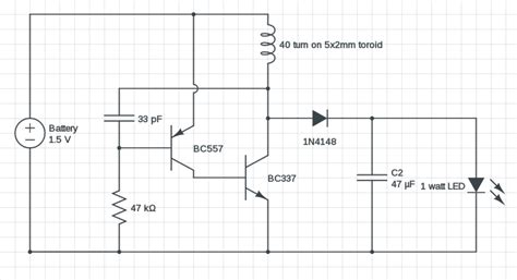 5 watt led driver circuit diagram 1 watt led driver circuit 1 5v input modified joule thief