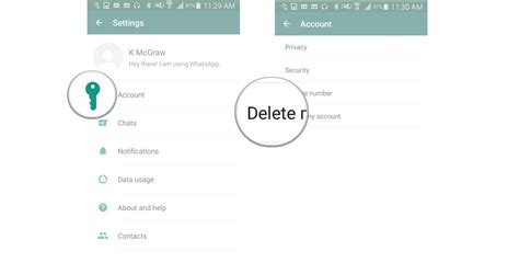 delete account from android how to delete your account from whatsapp for android android central