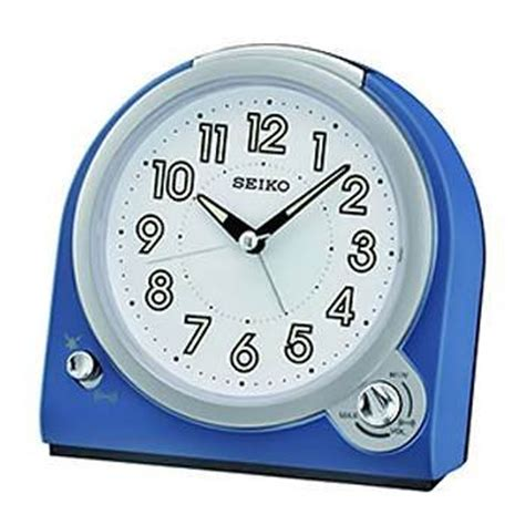Bedside L With Clock by Seiko Analogue Bedside Alarm Clock Blue Qhk029l Sustuu