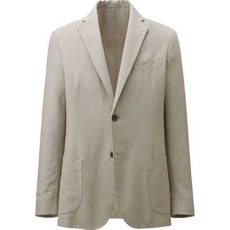 Linen Cotton Jacket uniqlo brown linen cotton jacket for lyst