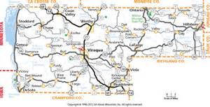 vernon county wisconsin map