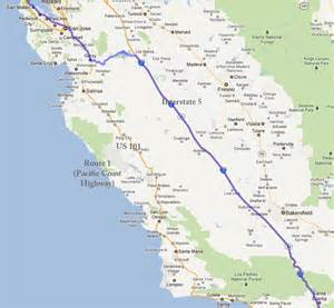 map of i5 california california map