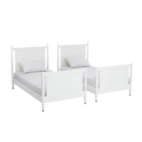 Mid Century Bunk Bed Mid Century Bunk Bed With Trundle In White By Dwellstudio