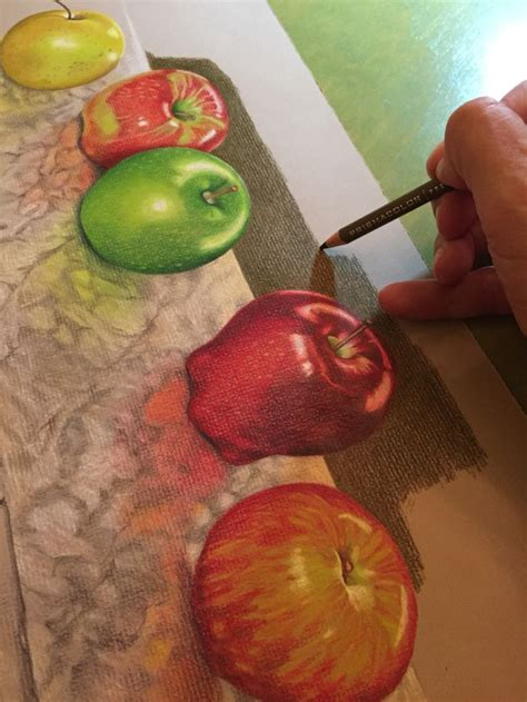 colored apples 60 best images about colored pencil apples on