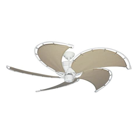 canvas blade ceiling fan gulf coast nautical raindance ceiling fan pure white