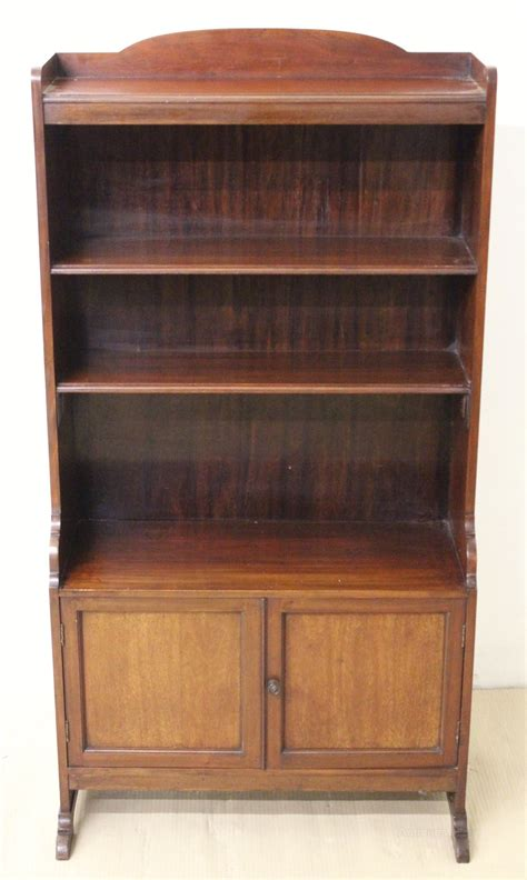 Antique Bookcase by Mahogany Open Bookcase Antiques Atlas