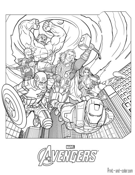 Superhero Coloring Pages Avengers | avengers coloring pages print and color com