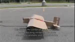 How To Make A Model Airplane Out Of Paper - big cardboard airplane flight and crash