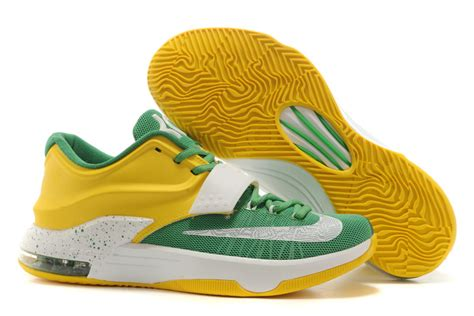 green yellow basketball shoes wholesale price nike zoom kd vii basketball shoes in