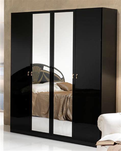 armoire de chambre armoire 4 portes athena chambre a coucher noir