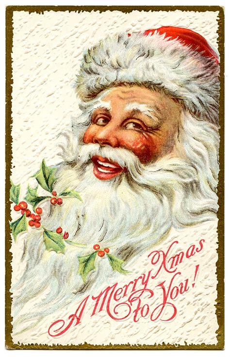vintage christmas clip art jolly santa  graphics fairy