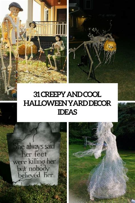 ideas outdoor halloween decoration ideas to make your 31 creepy and cool halloween yard d 233 cor ideas digsdigs