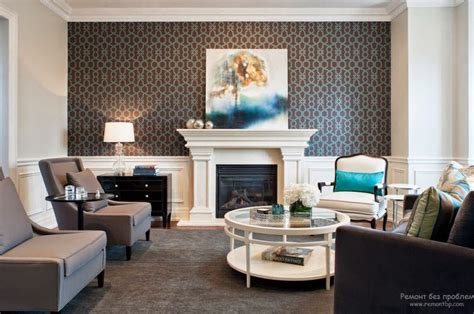 trendy living room wallpaper ideas colors patterns  types