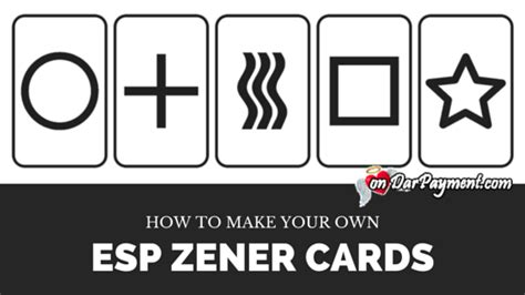 how to make your own cards how to make your own esp zener cards dar payment