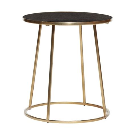 Table Basse Ronde Marbre by Table Basse Ronde Metal Dore Marbre Noir Hubsch 670320