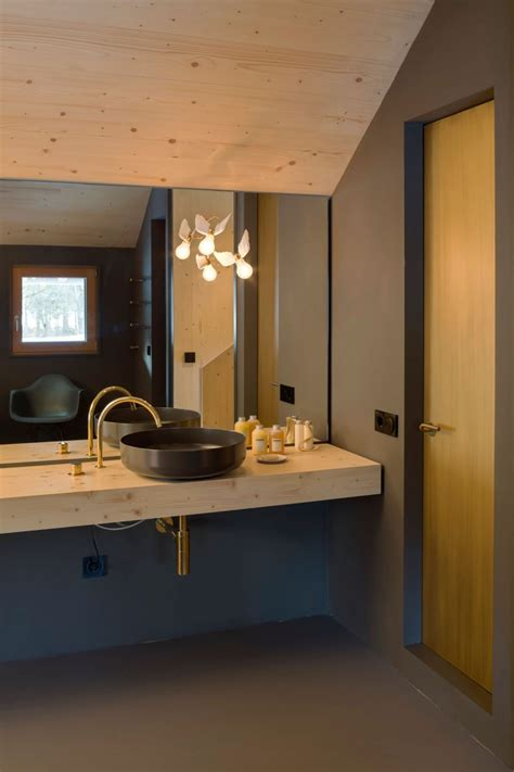 modern minimalism meets wooden warmth inside small winter small wooden house in bavaria is big on style2014 interior