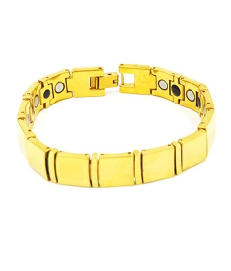 18 Carat Gold Bracelet From Organza by Tungsten 18 Carat Gold Plated Bio Magnetic Bracelet Sk