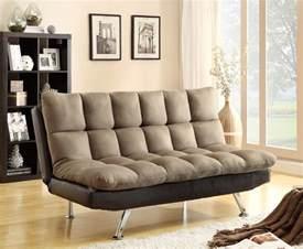 light brown microfiber adjustable plush pillow top sofa futon