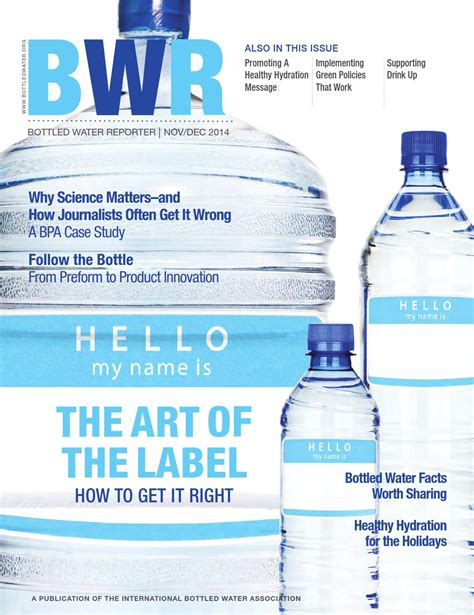 Mineral Water Label Template by Bottled Water Reporter By Ibwa Issuu