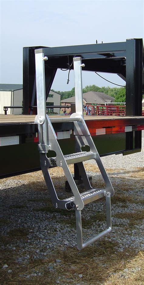 boat trailer roller ladder drop deck trucker semi flatbed ladder portable
