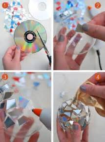 diy christmas decorations using cd s find fun art