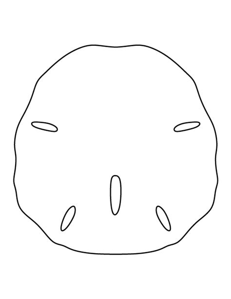 sand dollar pattern use the printable outline for crafts