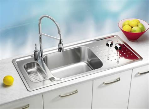Modern Sinks Kitchen Stainless Steel Kitchen Sinks And Modern Faucets Functional Kitchen Design Ideas