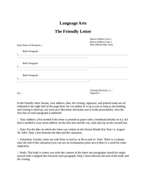 proper friendly letter format sle copy of a business