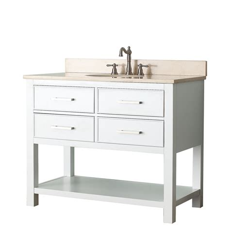 42 Bathroom Vanity Cabinet 42 Quot Bathroom Vanity White Bathroom Vanities Bath Kitchen And Beyond