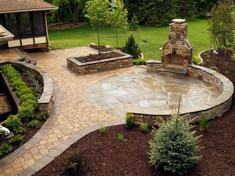 stone fireplace and ny bluestone flagstone paver patio