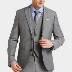 Mens Wearhouse Alta Moda Gray Slim Fit Vested Suit From S Wearhouse