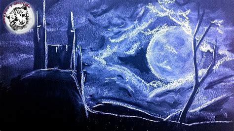 imagenes para dibujar en cartulina negra como dibujar con tiza un castillo de noche dibujos en