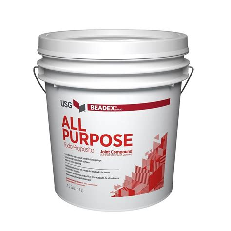 beadex brand 4 5 gal all purpose pre mixed joint compound