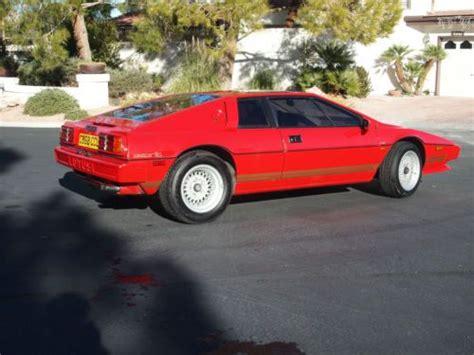 1986 lotus esprit car photo and specs buy used 1986 lotus esprit s3 coupe 2 door 2 2l in las vegas nevada united states