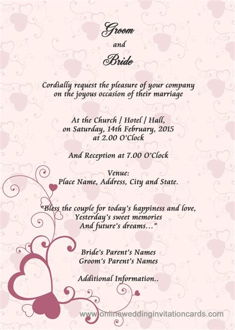 wedding invitations additional information exles sle wedding card invitation wedding gallery