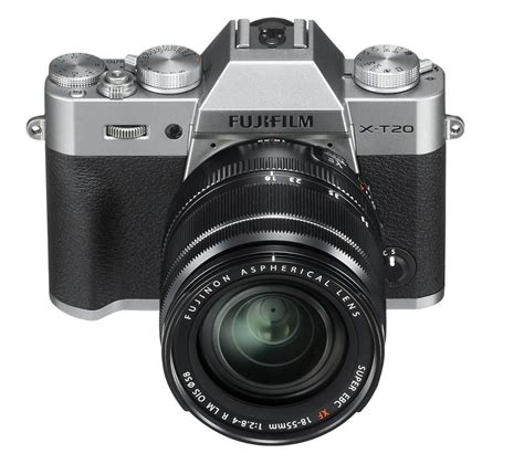Fujifilm Xt20 Kit Xf 18 55 buy fujifilm x t20 mirrorless with xf 18 55 mm f 2 8 4 r lm ois lens silver free