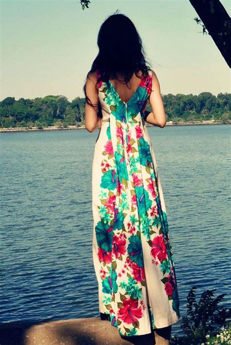 pattern hawaiian dress 60 s beautiful long hawaiian dress with hibiscus floral