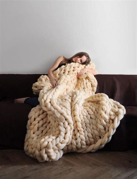 large blanket grande punto chunky knit blanket cozy