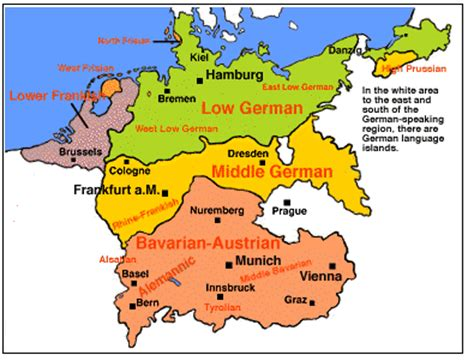 map of germany in german language german accents and dialects danube on thames