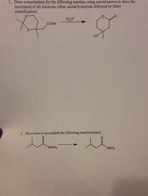 doodle how to make mechanism 1 draw a mechanism for the following reaction us