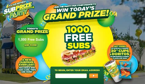 Instant Win Prizes Online Free - subway subprize instant win game