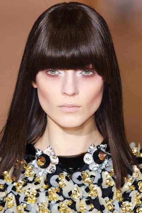 blunt fringe hairstyles fall hairstyles 2012 blunt bangs fashionandbeautyscene