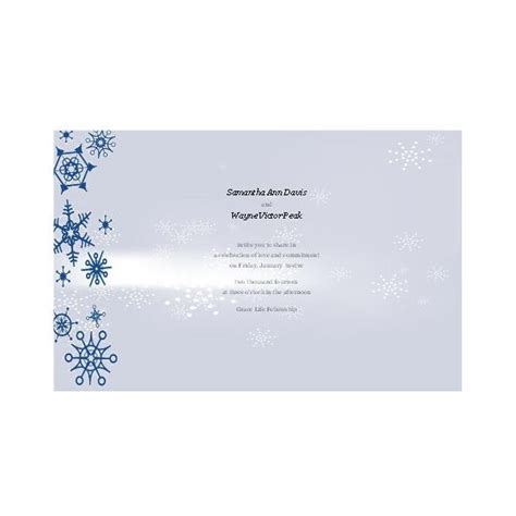 winter invitation template free winter wedding invitations for publisher design tips